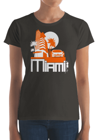 Miami Sleek City Women's Short Sleeve T-shirt T-Shirt  designed by JOOLcity