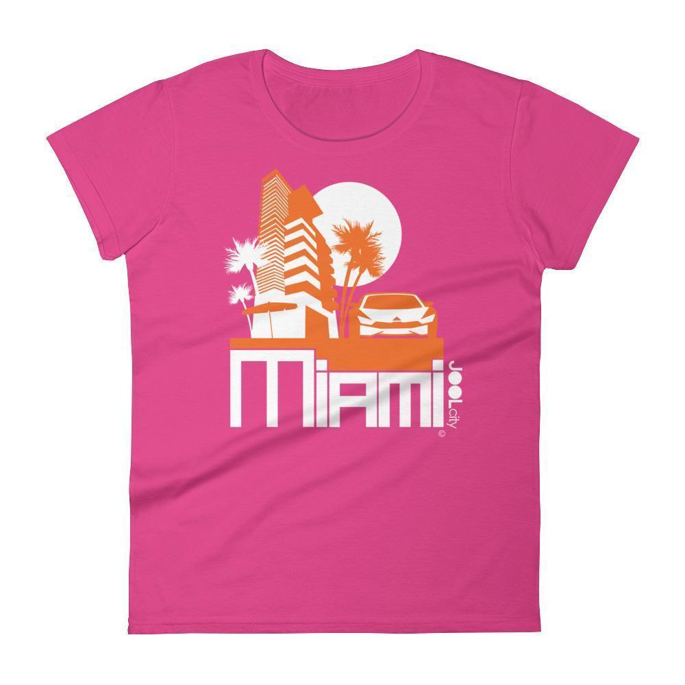 Miami Sleek City Women's Short Sleeve T-shirt T-Shirt Hot Pink / 2XL designed by JOOLcity