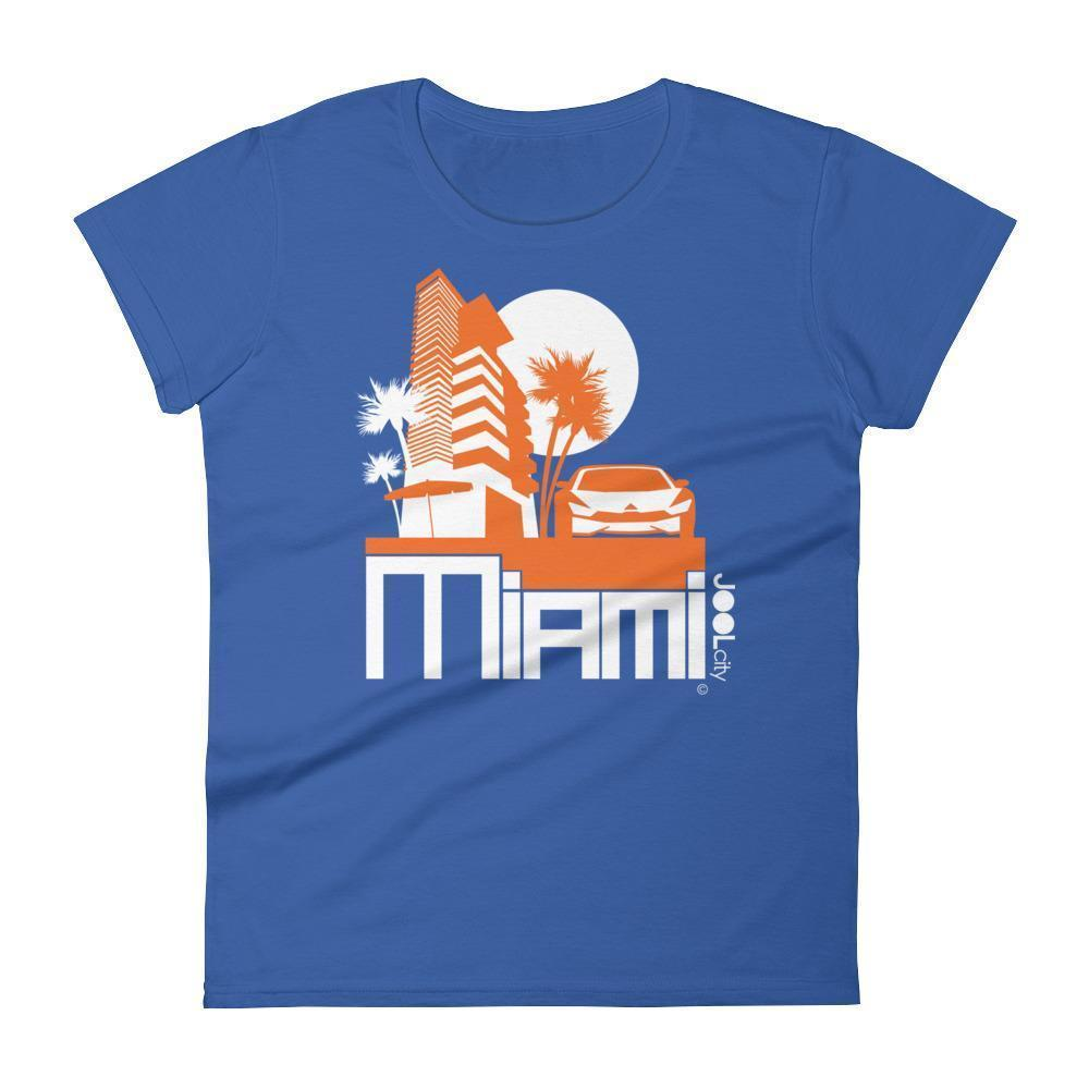Miami Sleek City Women's Short Sleeve T-shirt T-Shirt Royal Blue / 2XL designed by JOOLcity