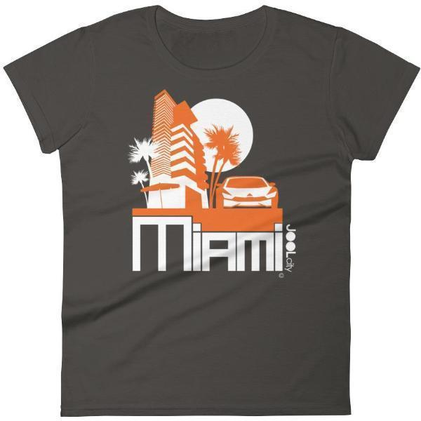 Miami Sleek City Women's Short Sleeve T-shirt T-Shirt Smoke / 2XL designed by JOOLcity