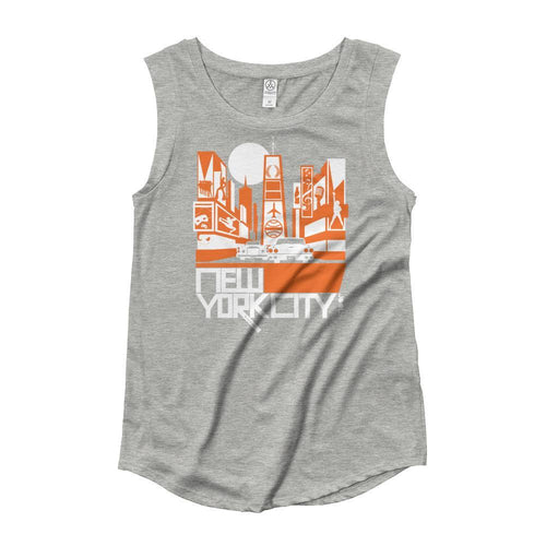 New York Broadway Nights Ladies' Cap Sleeve Tank-Top