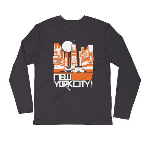 New York Broadway Nights Long Sleeve Men's T-Shirt T-Shirt 2XL designed by JOOLcity