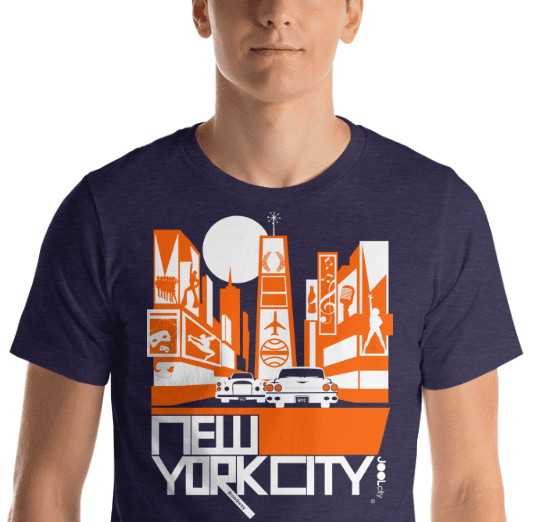 New York Broadway Nights Short-Sleeve Men's  T-Shirt T-Shirt  designed by JOOLcity
