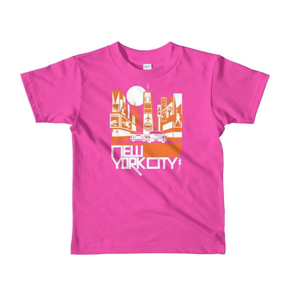 New York Broadway Nights Toddler Short Sleeve T-shirt T-Shirt Fuchsia / 6yrs designed by JOOLcity