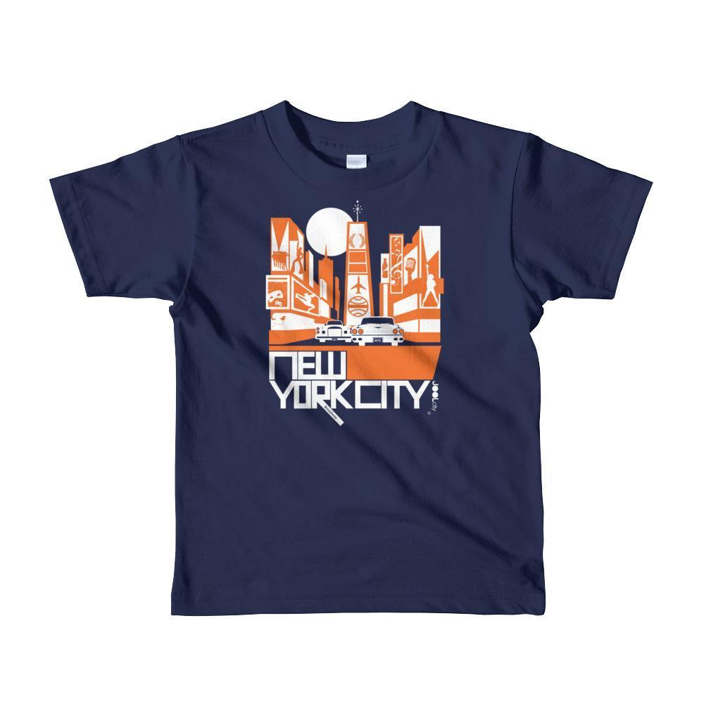New York Broadway Nights Toddler Short Sleeve T-shirt T-Shirt Navy / 6yrs designed by JOOLcity