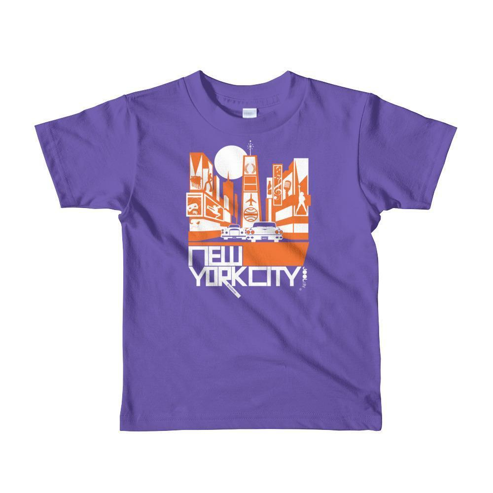 New York Broadway Nights Toddler Short Sleeve T-shirt T-Shirt Purple / 6yrs designed by JOOLcity