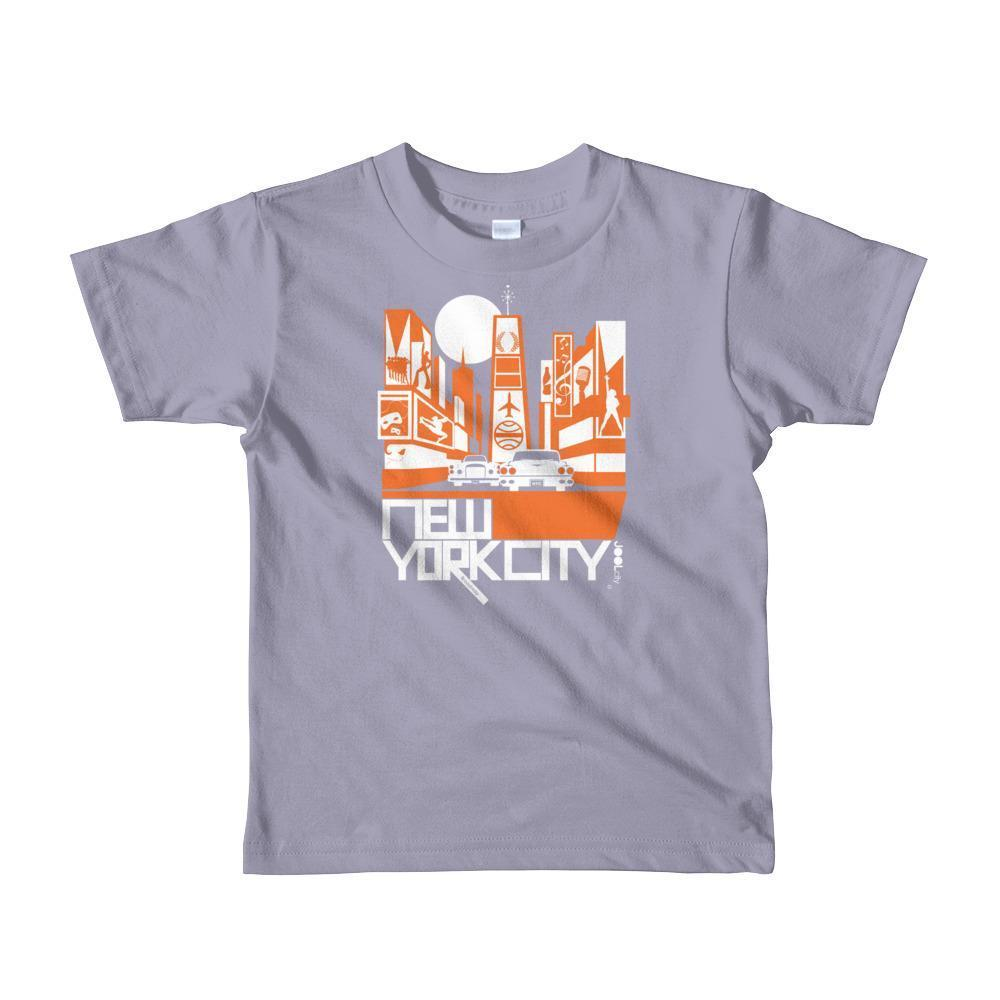 New York Broadway Nights Toddler Short Sleeve T-shirt T-Shirt Slate / 6yrs designed by JOOLcity
