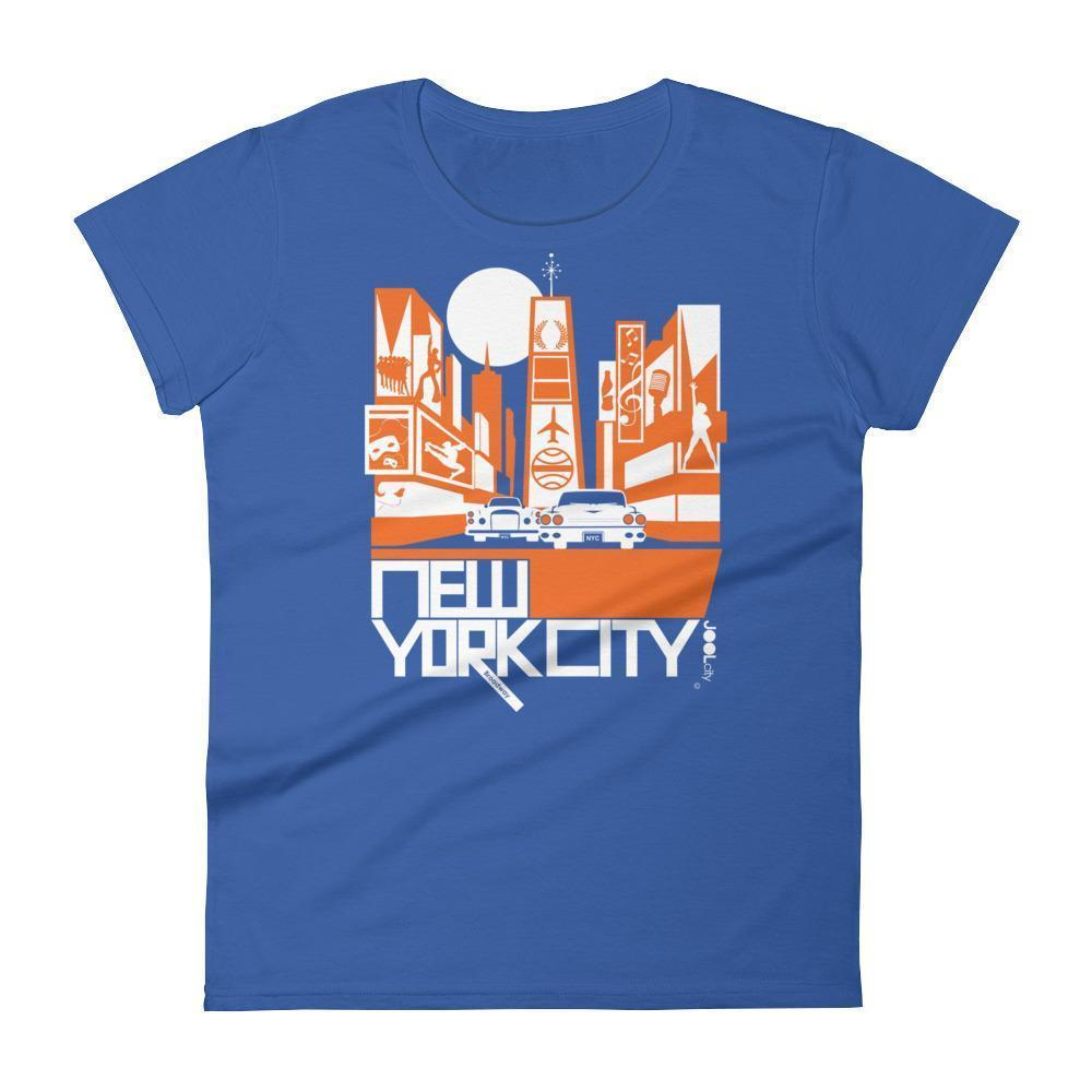 New York Broadway Nights Women's  Short Sleeve T-Shirt T-Shirt Royal Blue / 2XL designed by JOOLcity