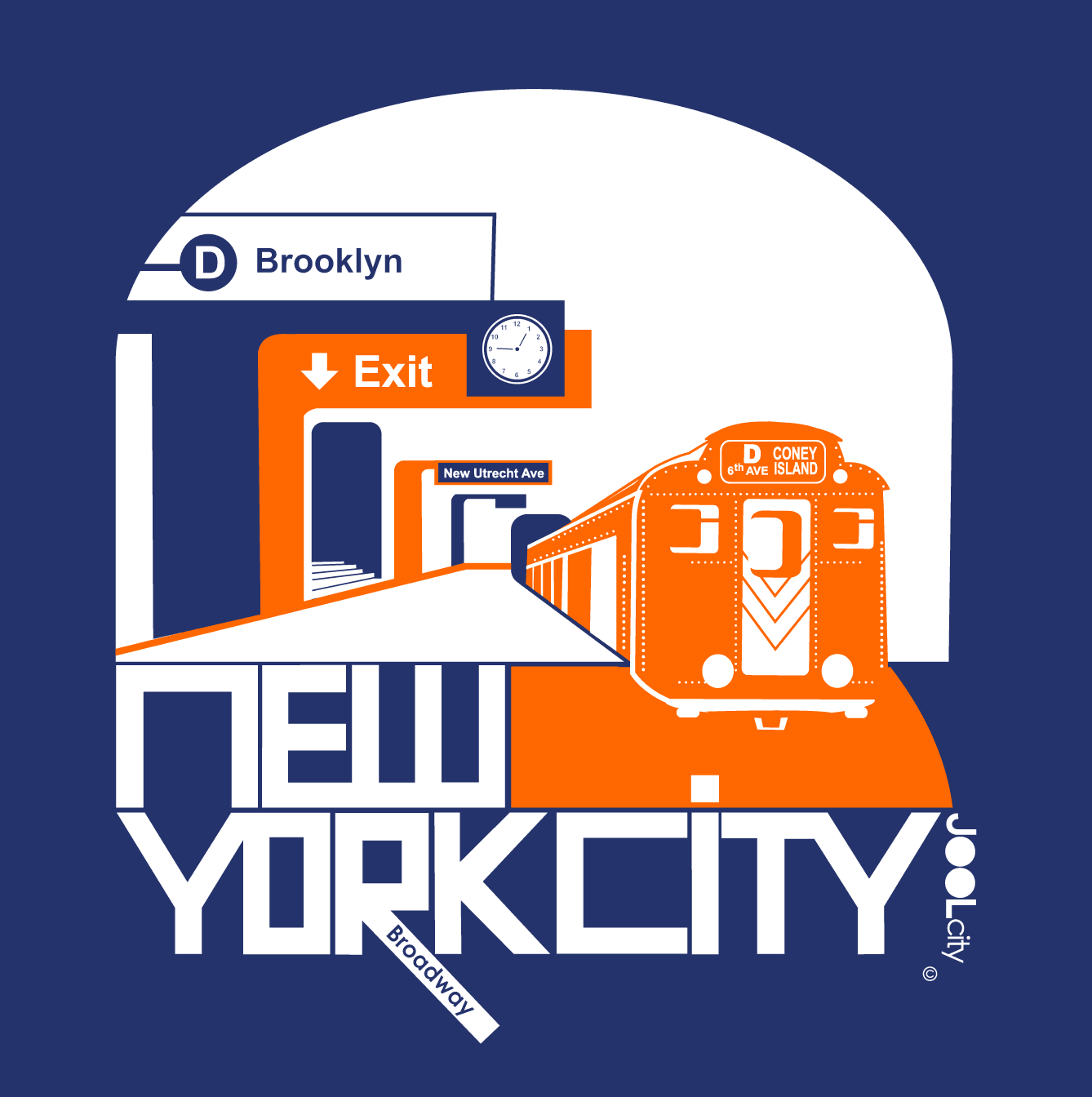 New York Brooklyn Bound Baby Onesie