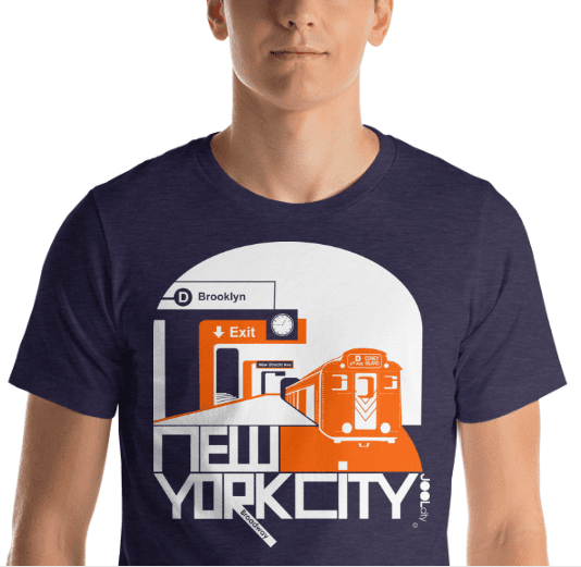 New York Brooklyn Bound Short-Sleeve Men's T-Shirt T-Shirt  designed by JOOLcity