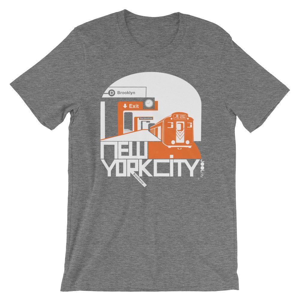 New York Brooklyn Bound Short-Sleeve Men's T-Shirt T-Shirt Deep Heather / 2XL designed by JOOLcity