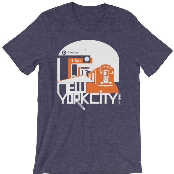 New York Brooklyn Bound Short-Sleeve Men's T-Shirt T-Shirt Heather Midnight Navy / 2XL designed by JOOLcity