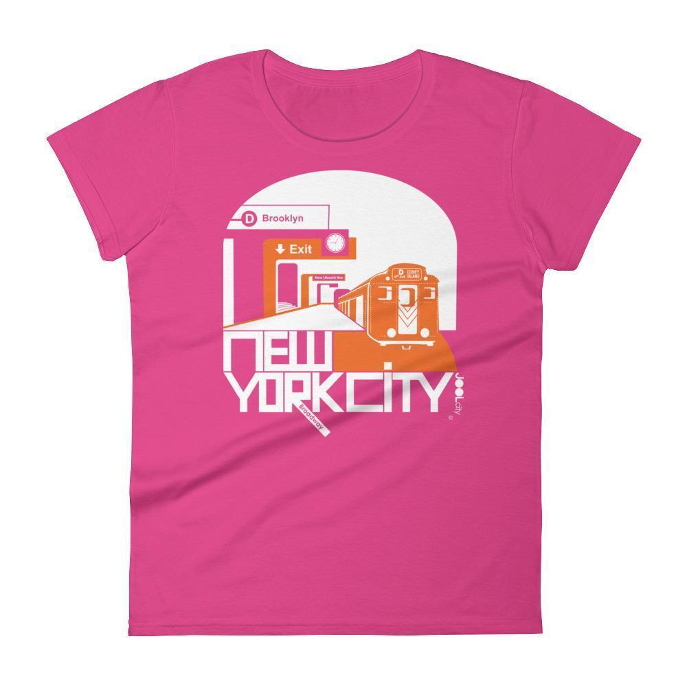 New York Brooklyn Bound Women's  Short Sleeve T-Shirt T-Shirt Hot Pink / L designed by JOOLcity