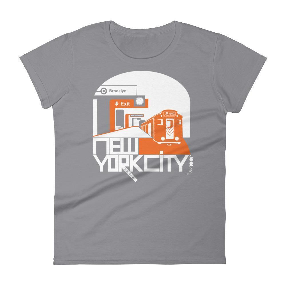 New York Brooklyn Bound Women's  Short Sleeve T-Shirt T-Shirt Storm Grey / 2XL designed by JOOLcity