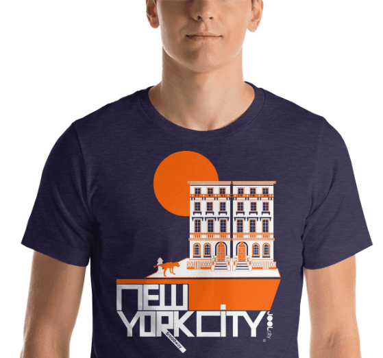 New York Brownstone Doggy Short-Sleeve Men's  T-Shirt T-Shirt  designed by JOOLcity