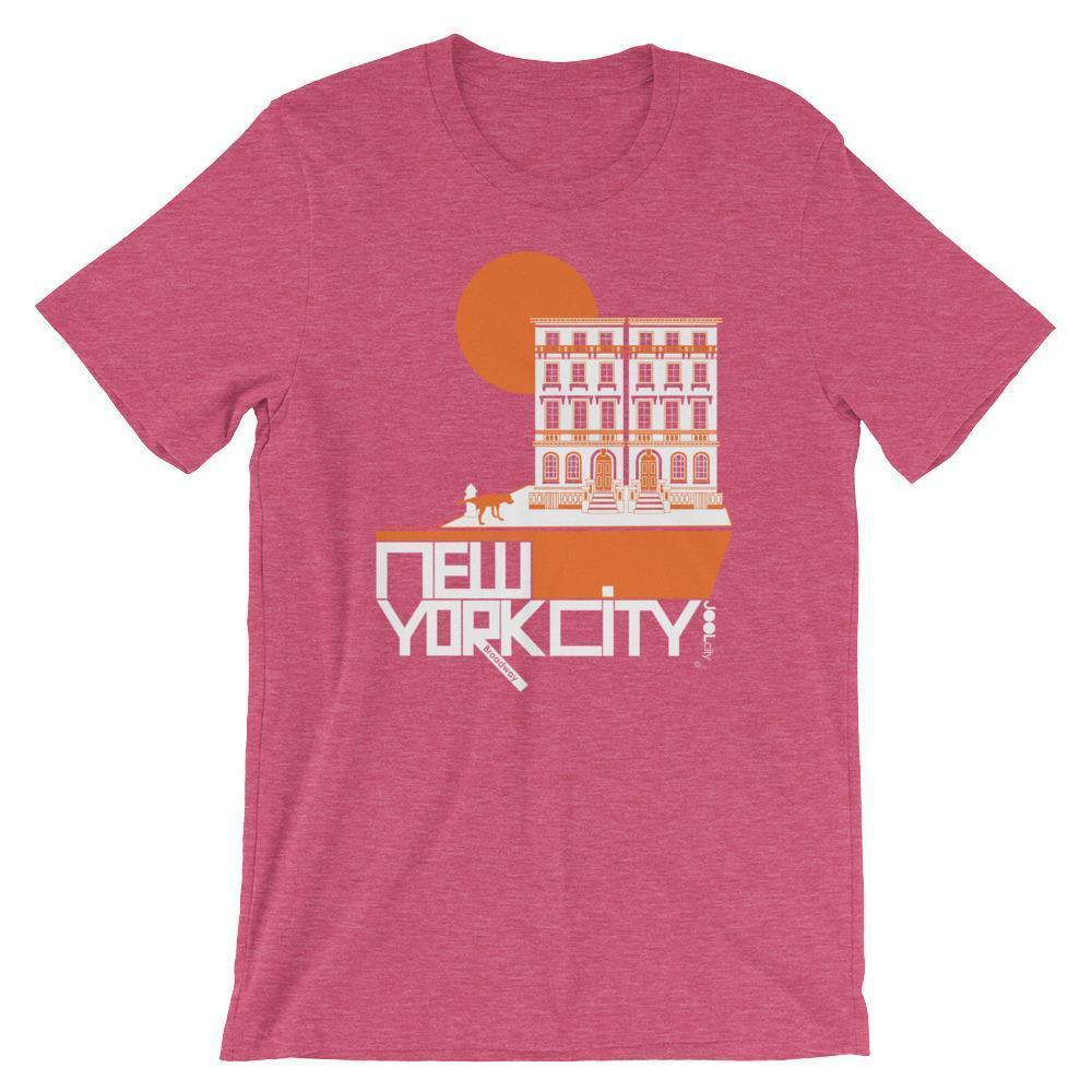New York Brownstone Doggy Short-Sleeve Men's  T-Shirt T-Shirt Heather Raspberry / 2XL designed by JOOLcity