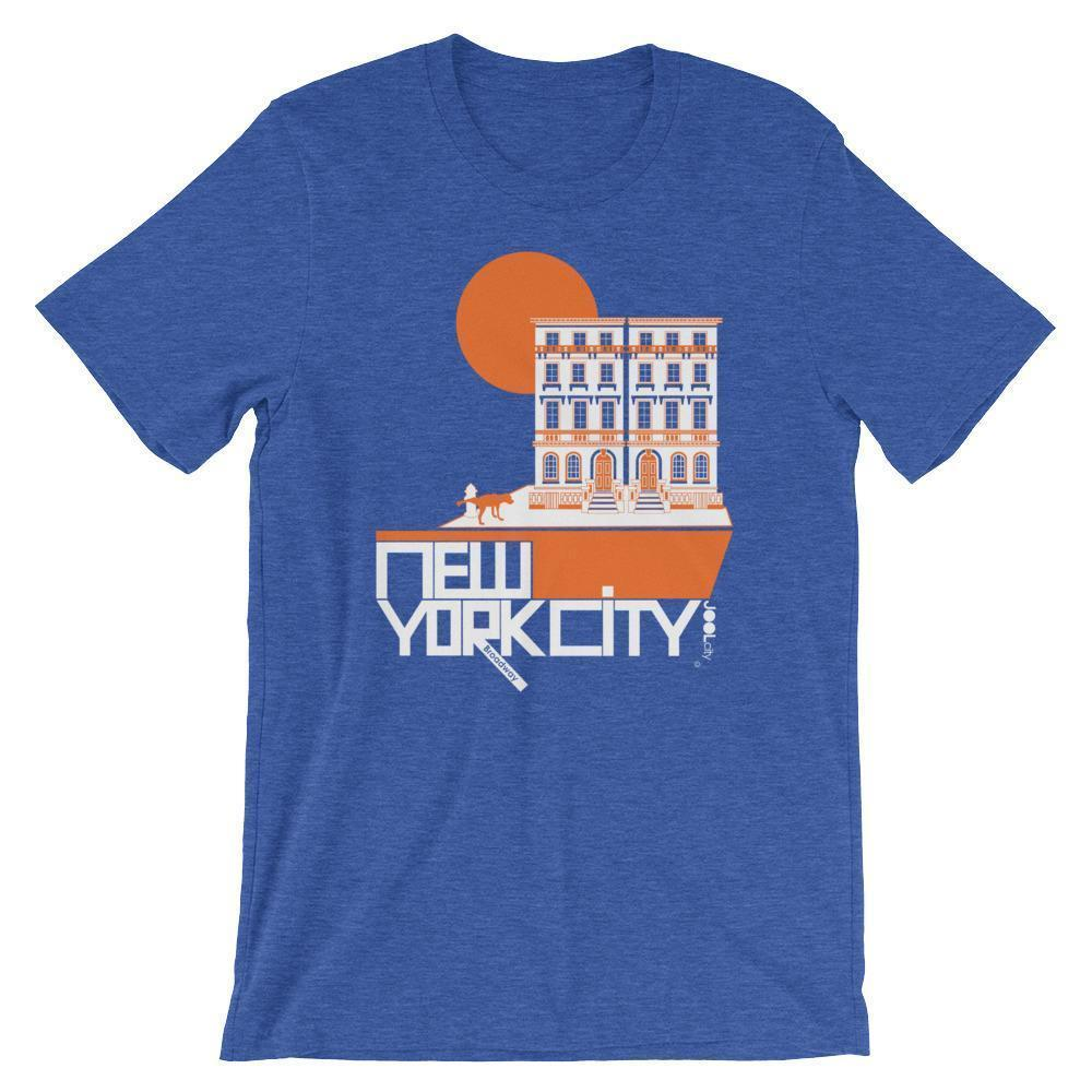 New York Brownstone Doggy Short-Sleeve Men's  T-Shirt T-Shirt Heather True Royal / 2XL designed by JOOLcity