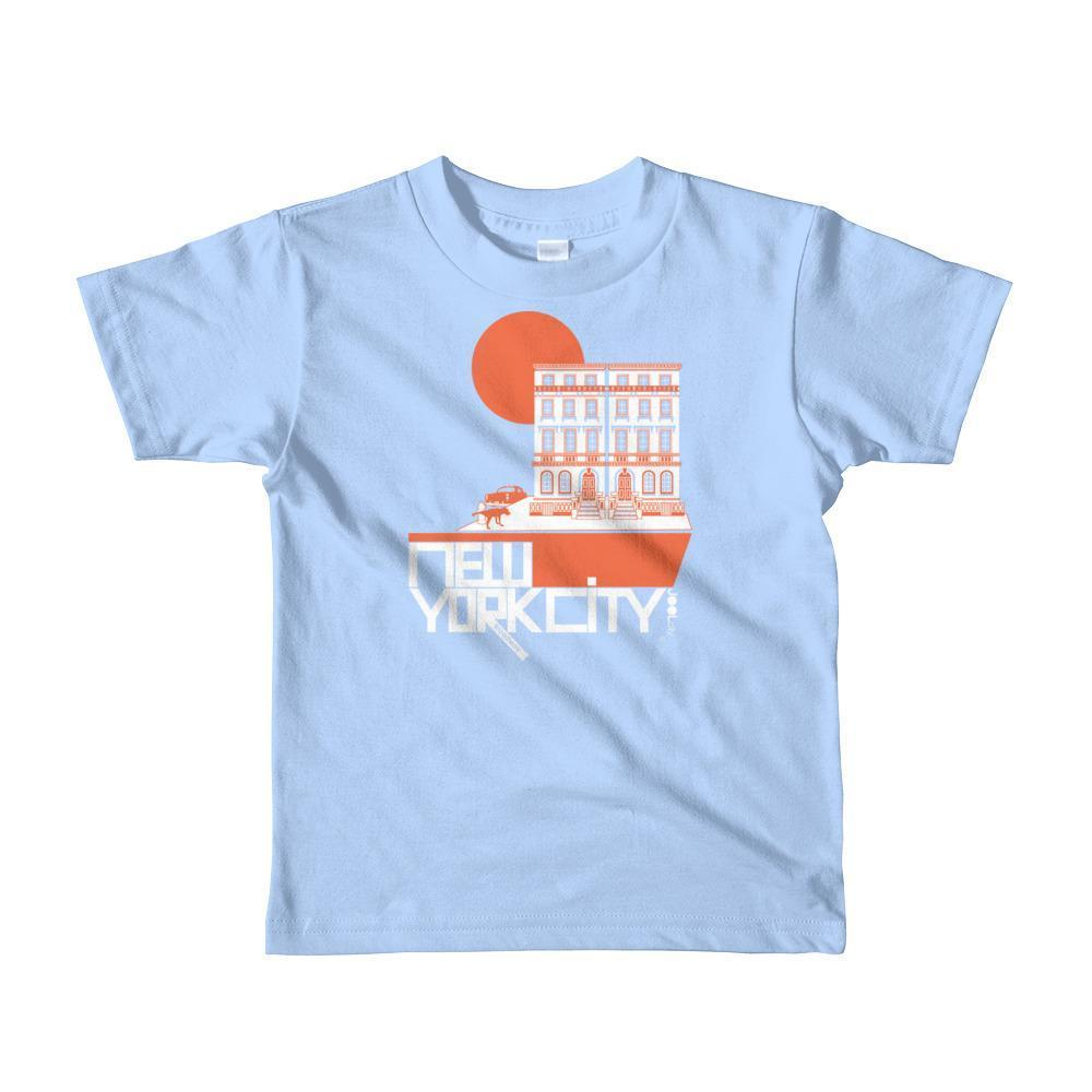 New York Brownstone Doggy Short Sleeve Toddler T-shirt T-Shirt Baby Blue / 6yrs designed by JOOLcity