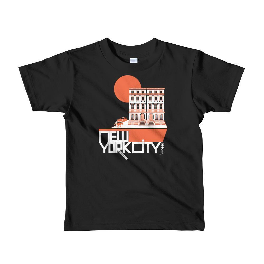 New York Brownstone Doggy Short Sleeve Toddler T-shirt T-Shirt Black / 6yrs designed by JOOLcity