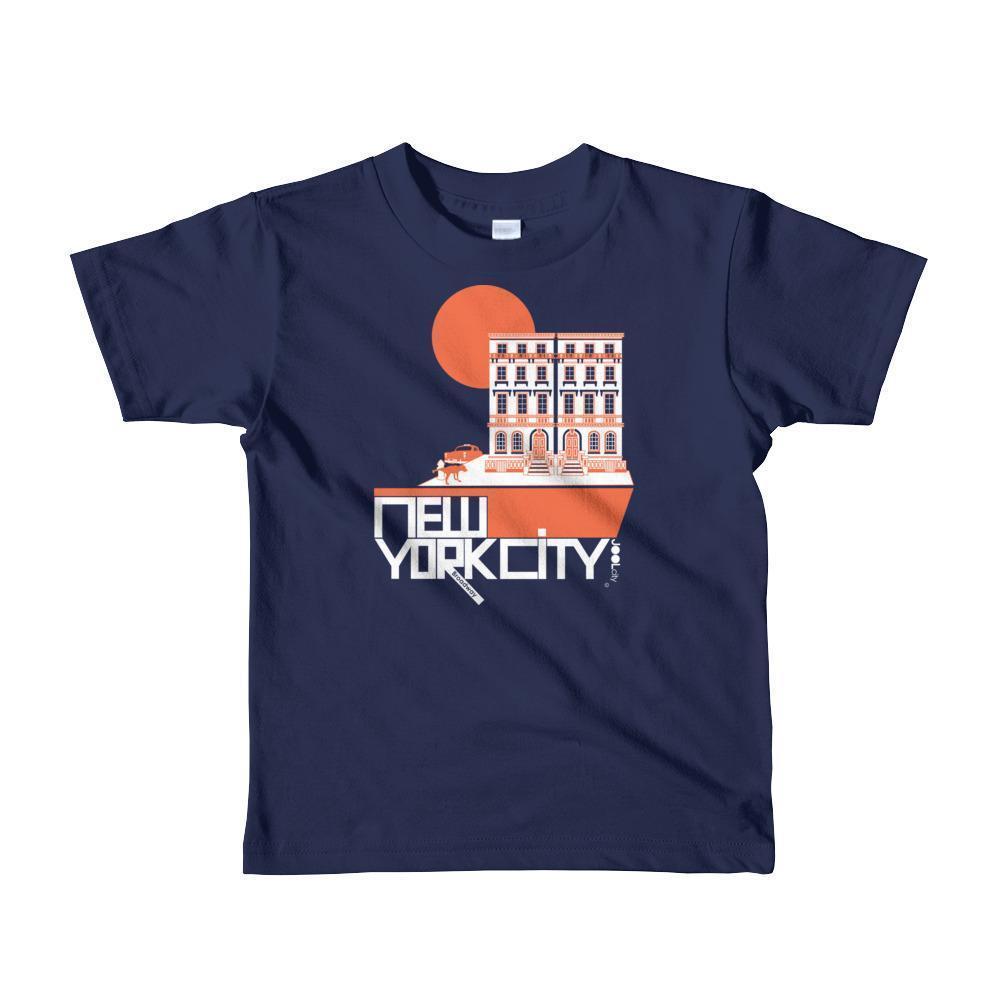 New York Brownstone Doggy Short Sleeve Toddler T-shirt T-Shirt Navy / 6yrs designed by JOOLcity