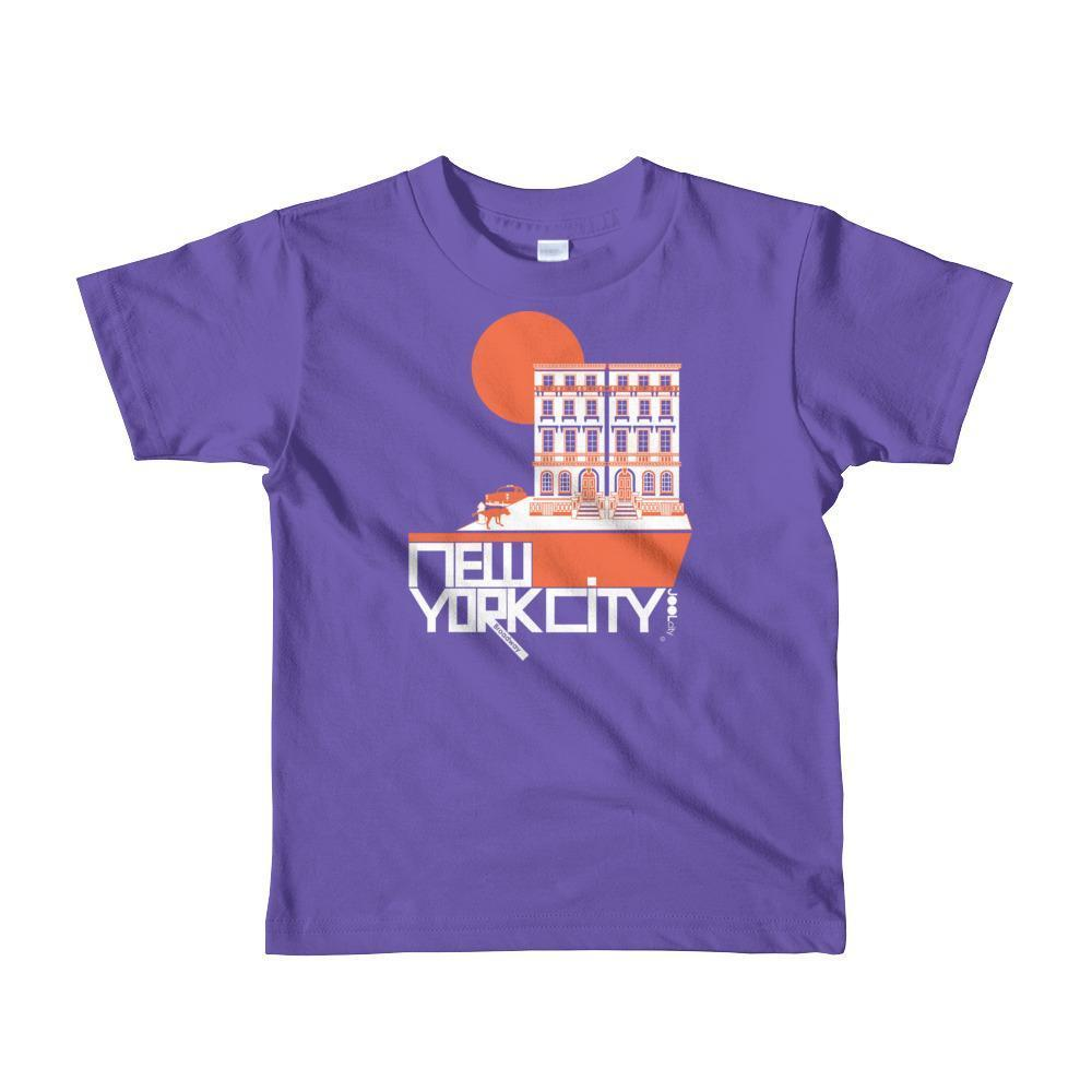 New York Brownstone Doggy Short Sleeve Toddler T-shirt T-Shirt Purple / 6yrs designed by JOOLcity