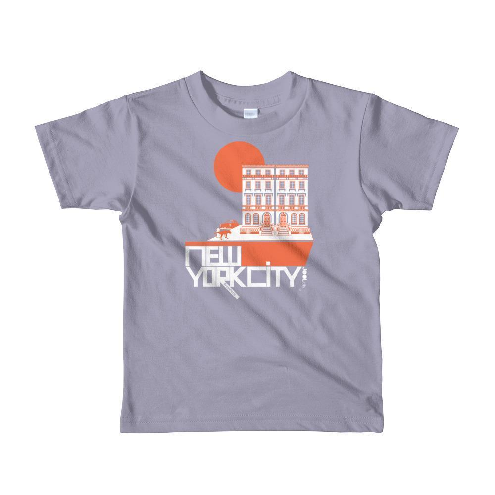 New York Brownstone Doggy Short Sleeve Toddler T-shirt T-Shirt Slate / 6yrs designed by JOOLcity