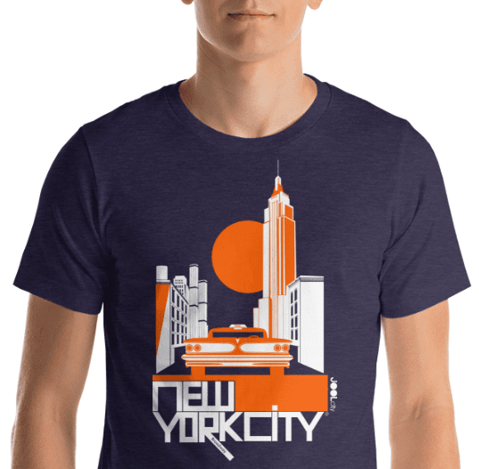 New York Empire Ride Short-Sleeve Men's T-Shirt T-Shirt  designed by JOOLcity