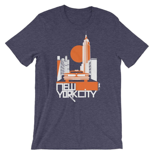 New York Empire Ride Short-Sleeve Men's T-Shirt T-Shirt Heather Midnight Navy / 2XL designed by JOOLcity