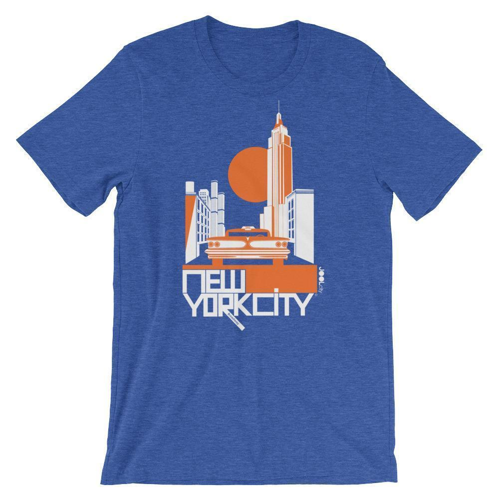 New York Empire Ride Short-Sleeve Men's T-Shirt T-Shirt Heather True Royal / 2XL designed by JOOLcity