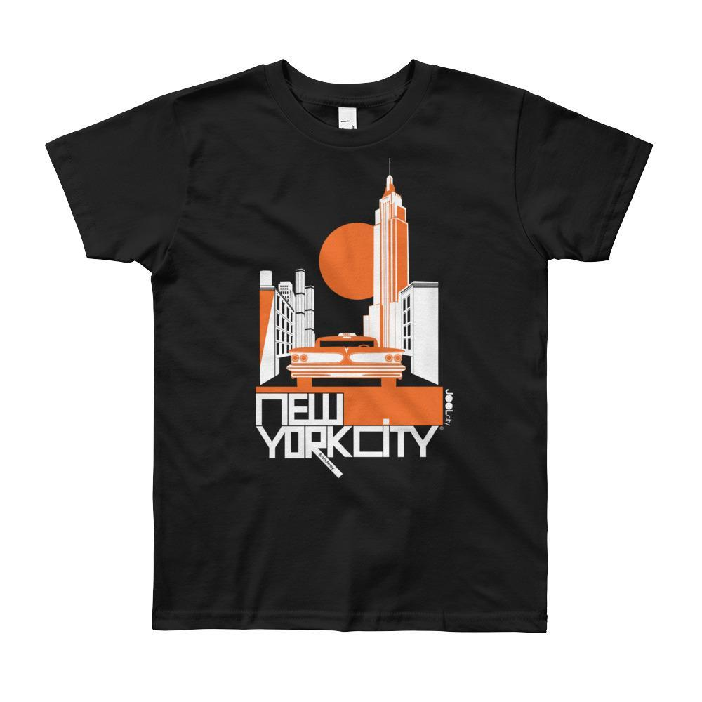 New York Empire Ride Short Sleeve Youth T-shirt T-Shirt Black / 12yrs designed by JOOLcity