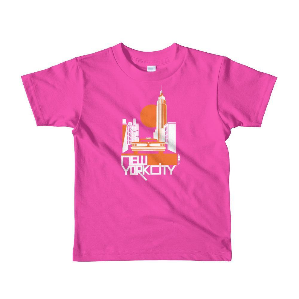 New York Empire Ride Toddler Short Sleeve T-shirt T-Shirt Fuchsia / 6yrs designed by JOOLcity