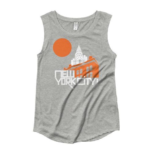New York Gotham Deco Ladies' Cap Sleeve Tank-Top