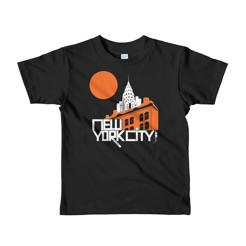 New York Gotham Deco Toddler Short Sleeve T-shirt T-Shirt Black / 6yrs designed by JOOLcity