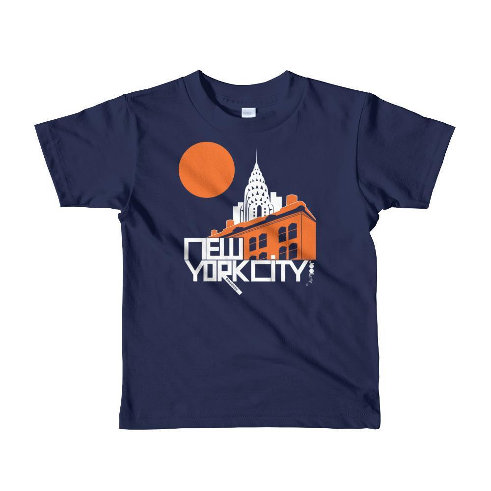 New York Gotham Deco Toddler Short Sleeve T-shirt T-Shirt Navy / 6yrs designed by JOOLcity