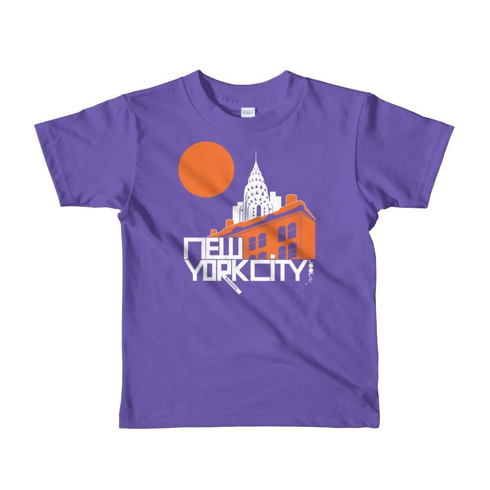 New York Gotham Deco Toddler Short Sleeve T-shirt T-Shirt Purple / 6yrs designed by JOOLcity
