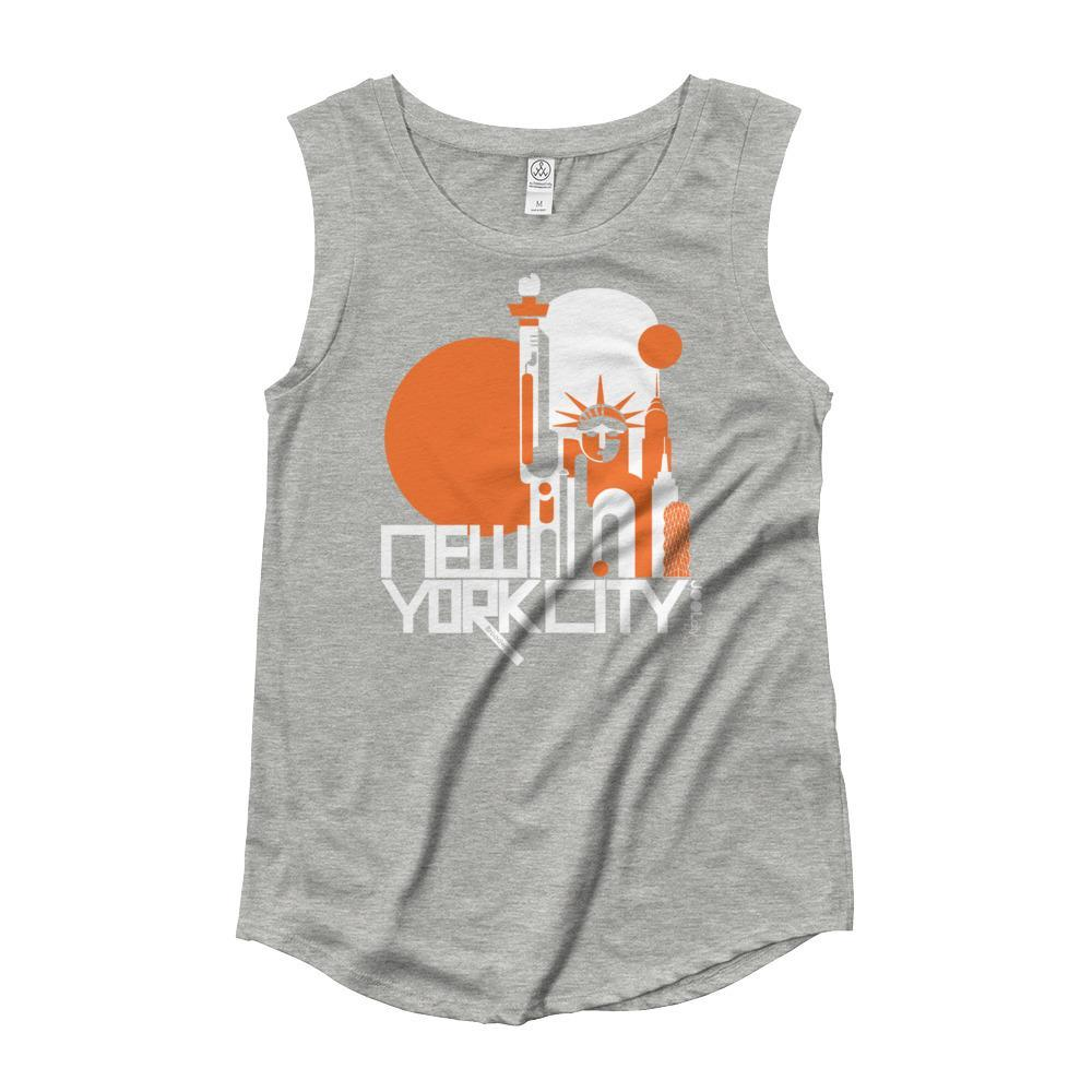 New York Lady Liberty Ladies' Cap Sleeve Tank-Top