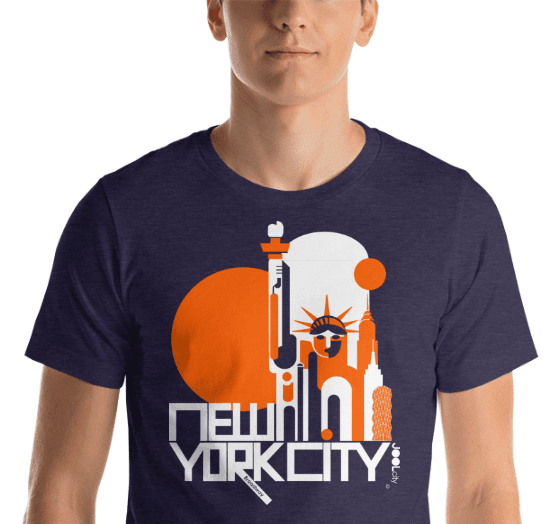 New York Lady Liberty Short-Sleeve Men's  T-Shirt T-Shirt  designed by JOOLcity