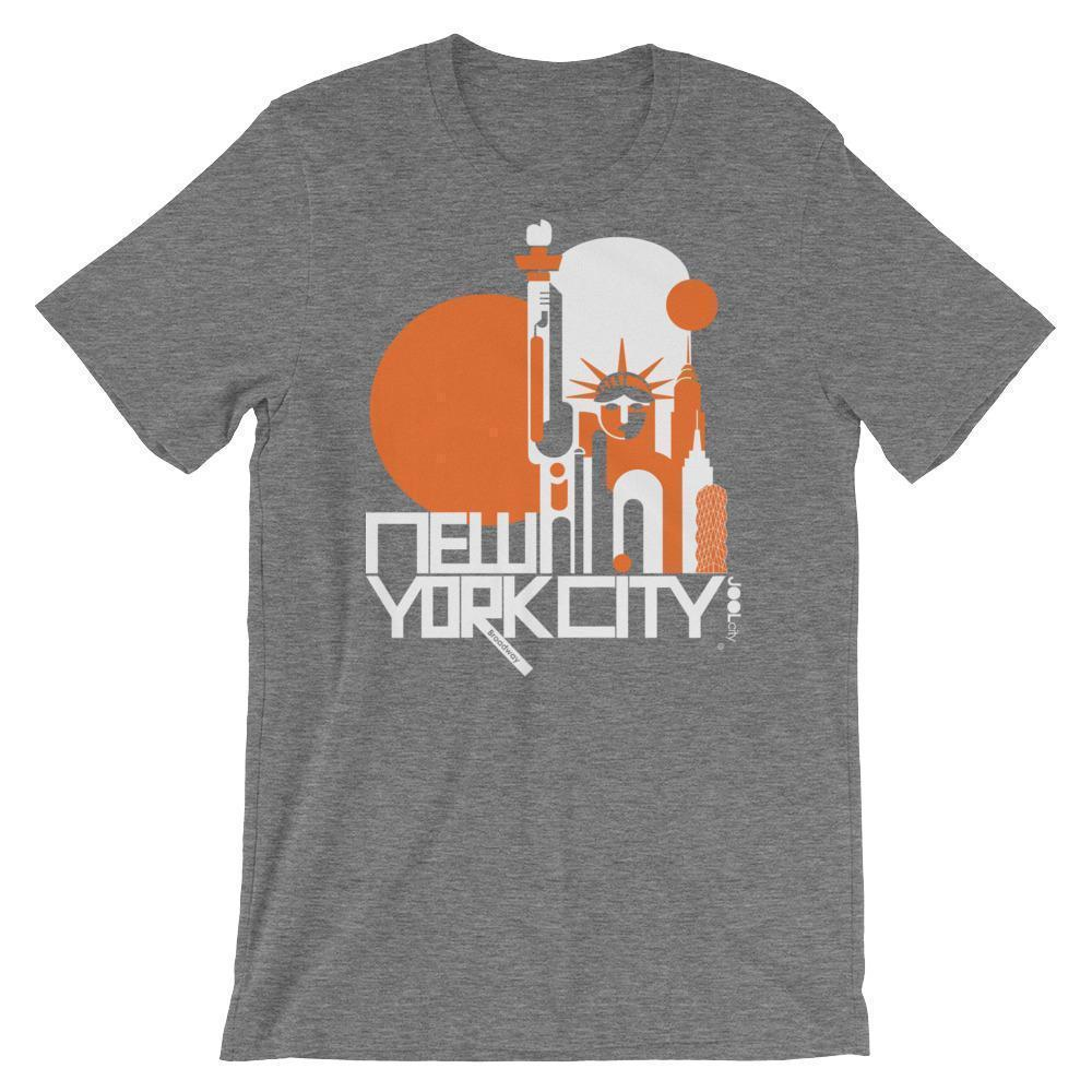 New York Lady Liberty Short-Sleeve Men's  T-Shirt T-Shirt Deep Heather / 2XL designed by JOOLcity