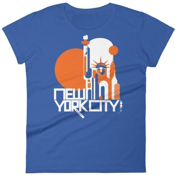 New York Lady Liberty Women's  Short Sleeve T-Shirt T-Shirt Royal Blue / 2XL designed by JOOLcity