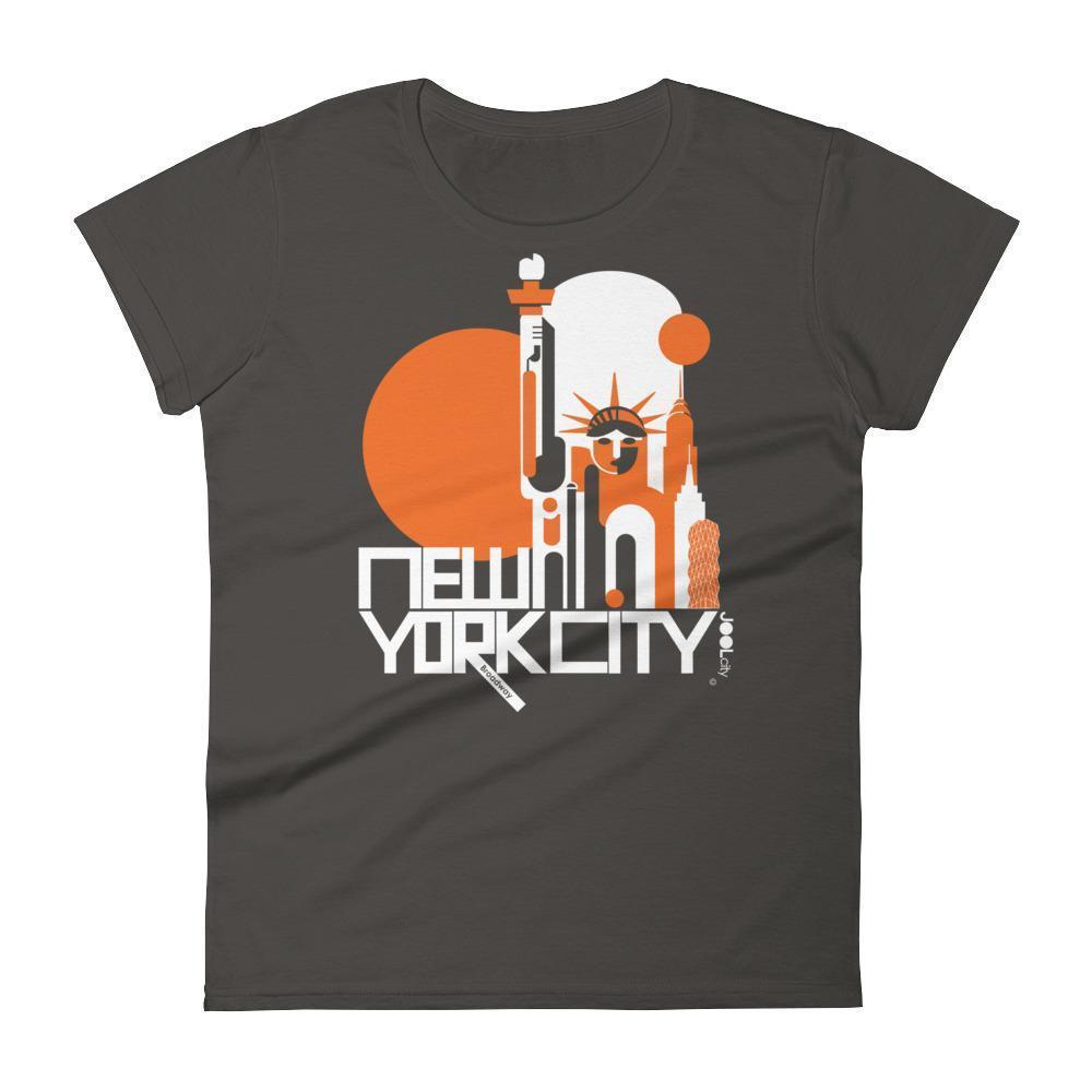 New York Lady Liberty Women's  Short Sleeve T-Shirt T-Shirt Smoke / 2XL designed by JOOLcity