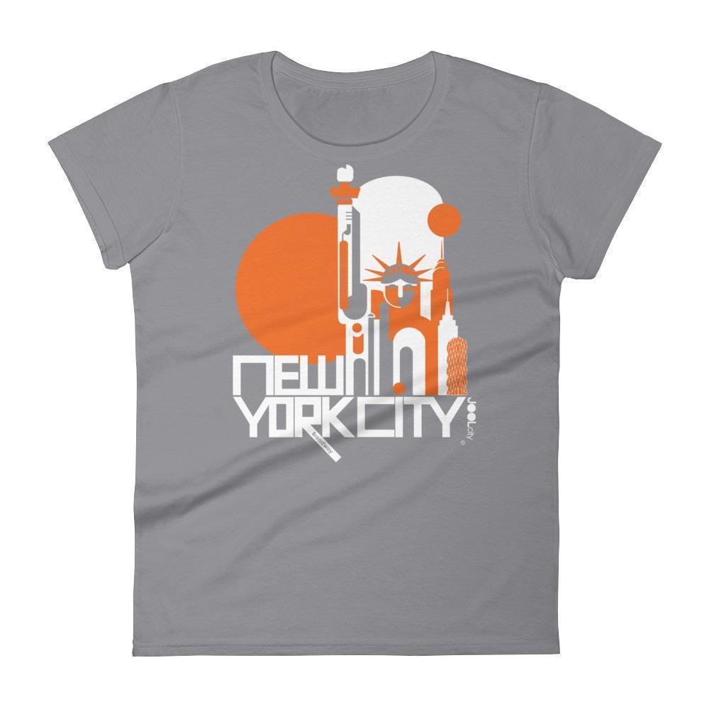 New York Lady Liberty Women's  Short Sleeve T-Shirt T-Shirt Storm Grey / 2XL designed by JOOLcity