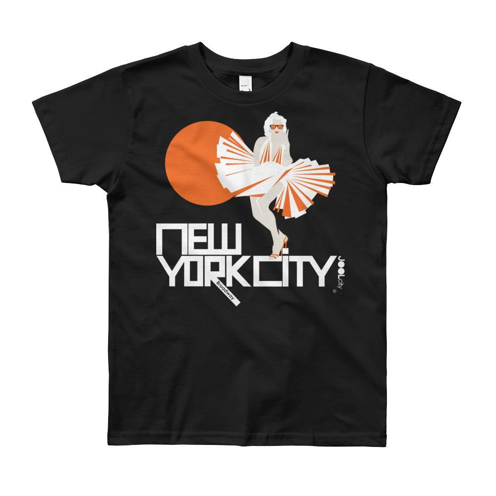 New York My Girl Short Sleeve Youth T-shirt T-Shirt Black / 12yrs designed by JOOLcity