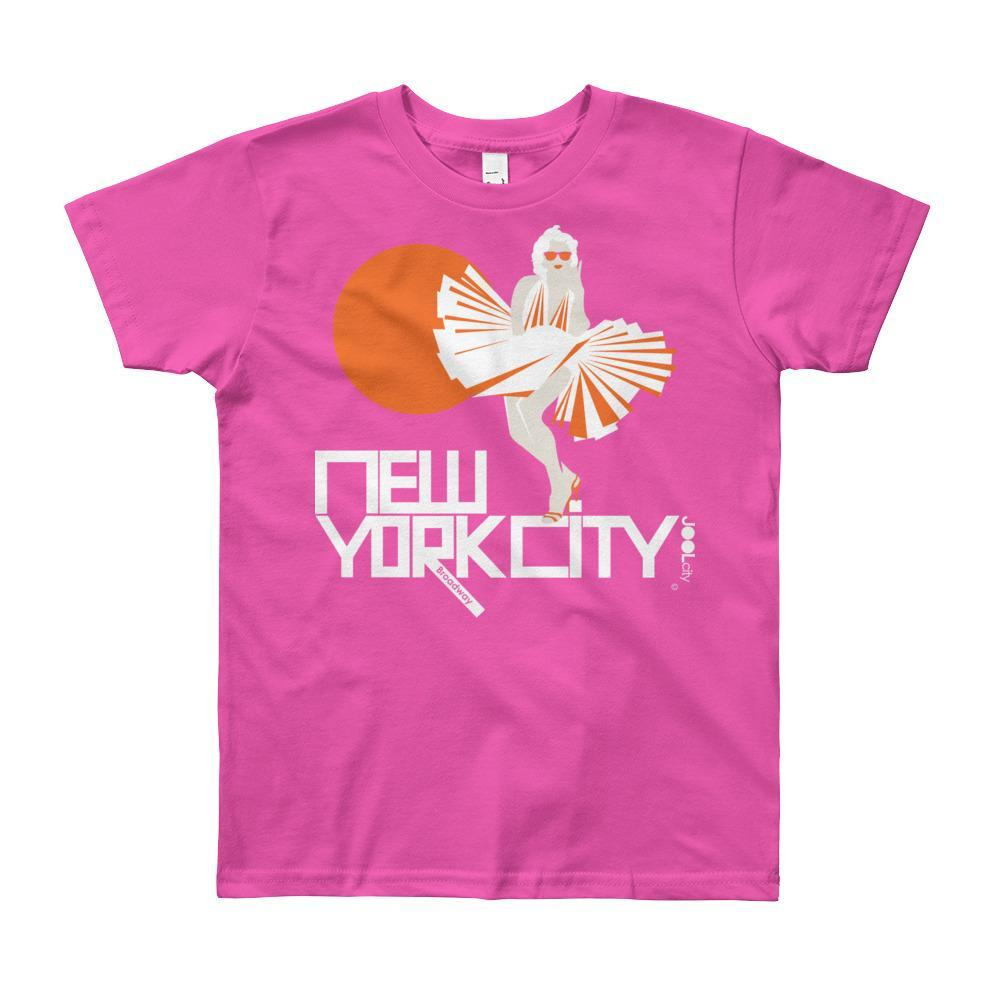 New York My Girl Short Sleeve Youth T-shirt T-Shirt Fuchsia / 12yrs designed by JOOLcity