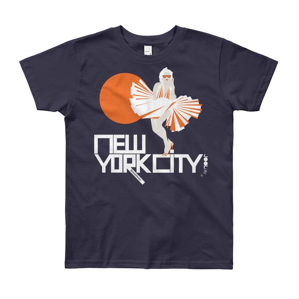 New York My Girl Short Sleeve Youth T-shirt T-Shirt Navy / 12yrs designed by JOOLcity