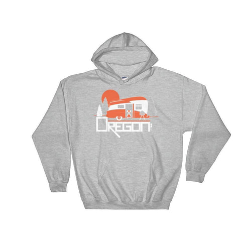 Oregon Camping Pup Hooded Sweatshirt