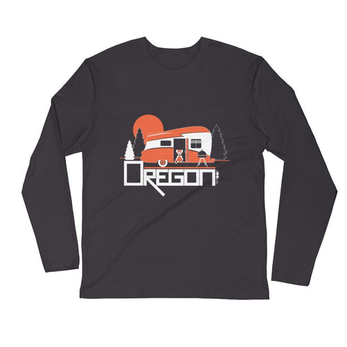 Oregon Camping Pup Long Sleeve Men's T-Shirt T-Shirt 2XL designed by JOOLcity