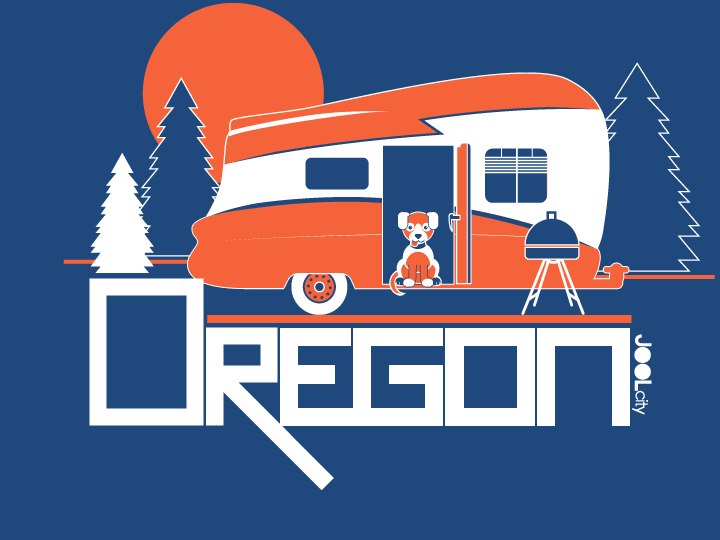 Oregon Camping Pup Toddler Short-Sleeve T-Shirt T-Shirt  designed by JOOLcity