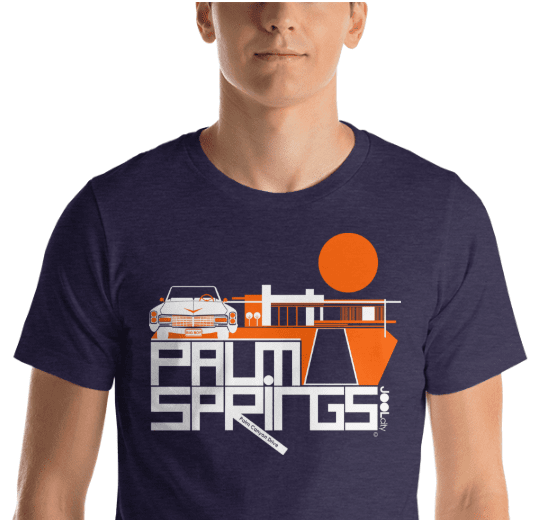 Palm Springs  Big Caddy Daddy  Short-Sleeve Men's  T-Shirt T-Shirt  designed by JOOLcity