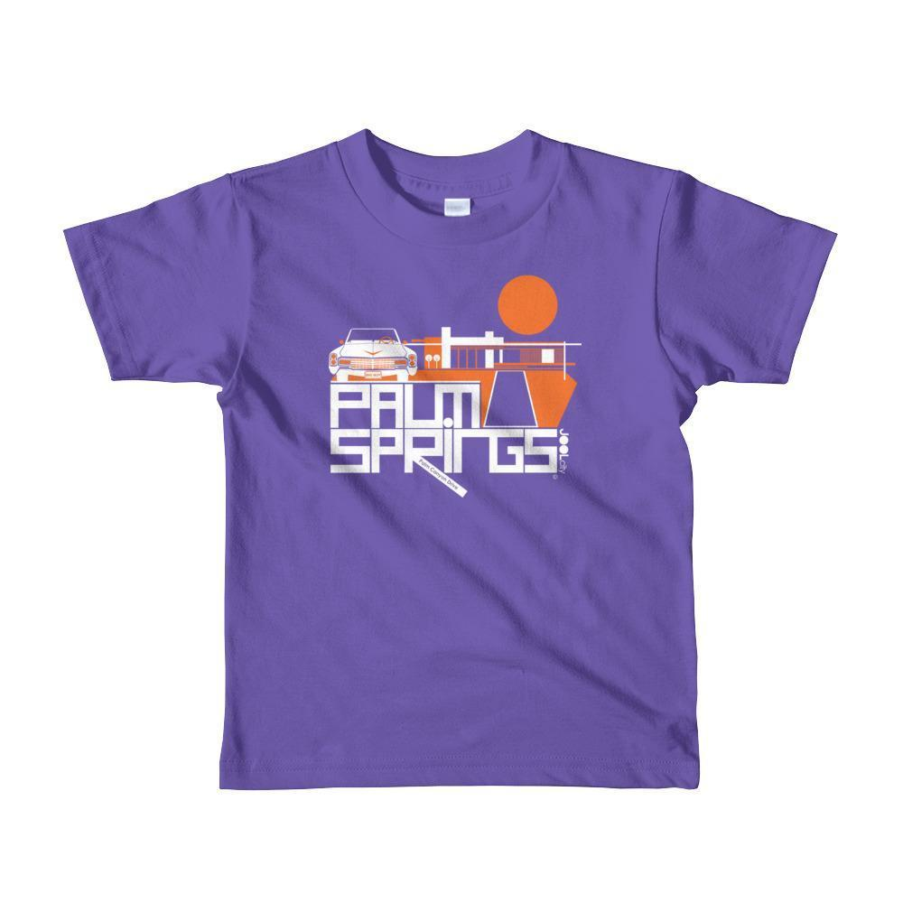 Palm Springs Big Caddy Daddy Toddler Short Sleeve T-shirt T-Shirt Purple / 6yrs designed by JOOLcity