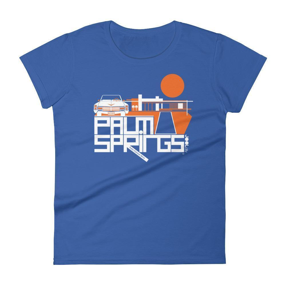 Palm Springs  Big Caddy Daddy Women's  Short Sleeve T-Shirt T-Shirt Royal Blue / 2XL designed by JOOLcity
